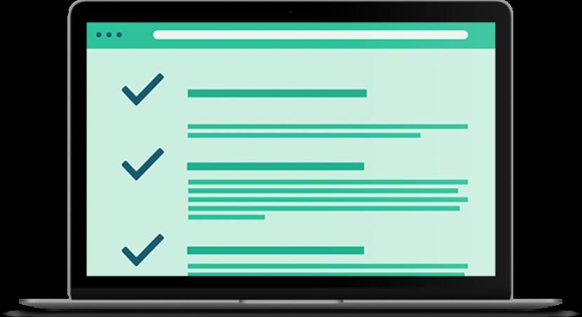 Email Marketing Checklist Laptop Mockup